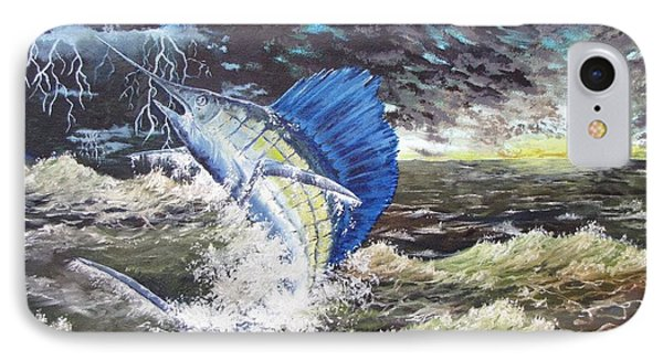 The Calm The Crazy The Sailfish Phone Case by Kevin F Heuman