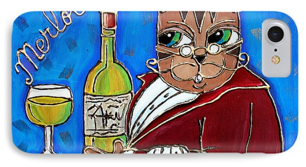 The Cat Butler IPhone Case by Cynthia Snyder