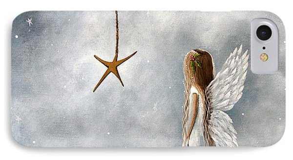The Christmas Star Original Artwork IPhone Case by Shawna Erback
