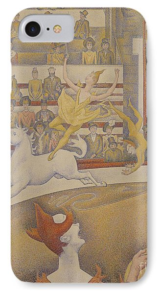 The Circus Phone Case by Georges Pierre Seurat
