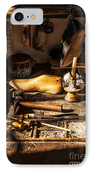 The Cobbler's Shop IPhone Case by Terry Rowe