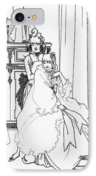 The Coiffing Phone Case by Aubrey Beardsley