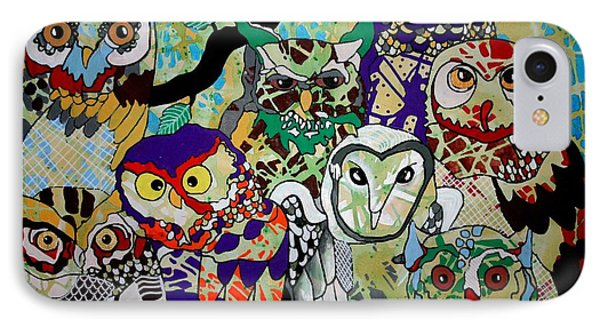 The Color Of Owls Phone Case by Amy Sorrell