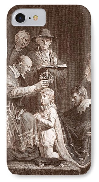 The Coronation Of Henry Vi, Engraved IPhone 7 Case by John Opie