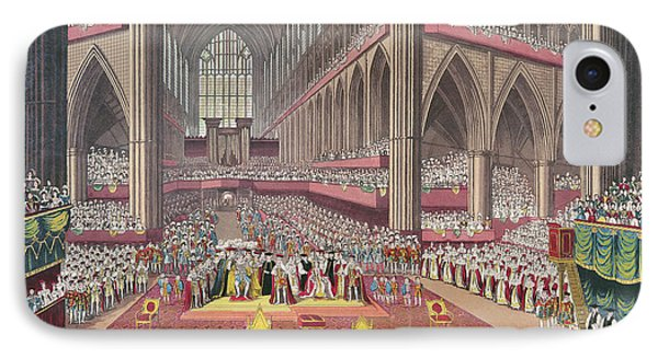 The Coronation Of King William Iv And Queen Adelaide, 1831 Colour Litho IPhone Case by English School