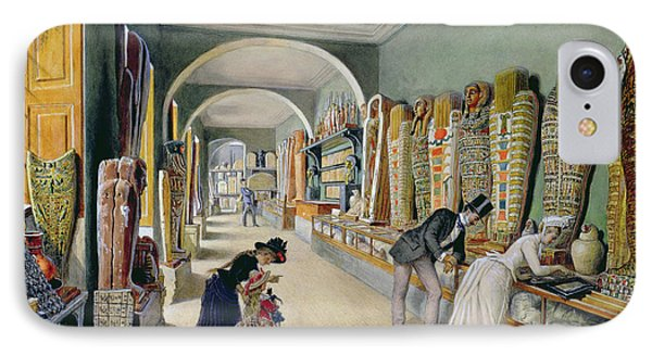 The Corridor And The Last Cabinet Of The Egyptian Collection In The Ambraser Collection IPhone Case by Carl Goebel
