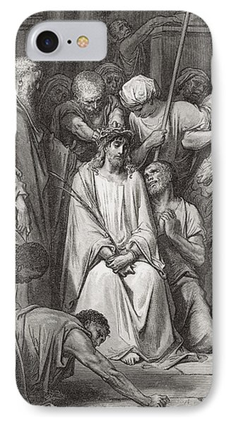 The Crown Of Thorns IPhone Case by Gustave Dore