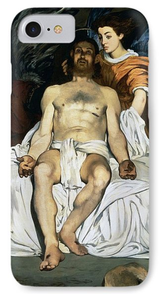 The Dead Christ And Angels Phone Case by Edouard Manet