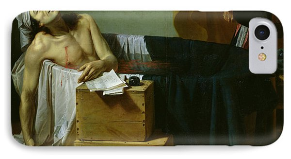 The Death Of Marat IPhone Case by Joseph Roques