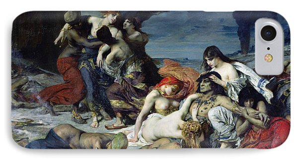 The Death Of Ravana IPhone Case by Fernand Cormon