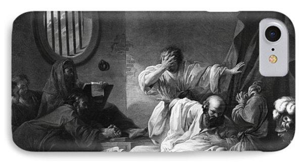 The Death Of Socrates IPhone Case by Jacques Philippe Joseph de Saint-Quentin