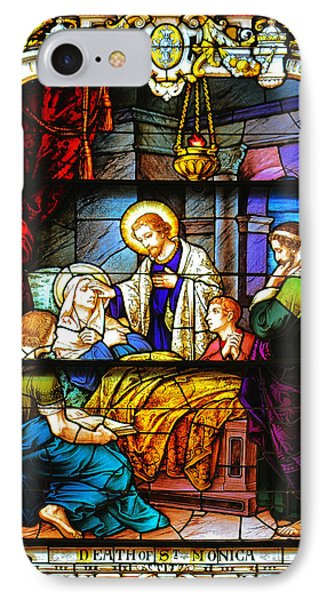 The Death Of St Monica St Augustine IPhone Case by Christine Till