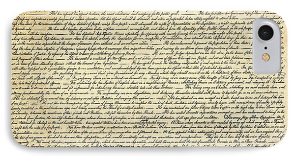 The Declaration Of Independence IPhone Case by Daniel Hagerman