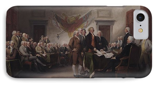 The Declaration Of Independence, July 4, 1776 IPhone 7 Case by John Trumbull