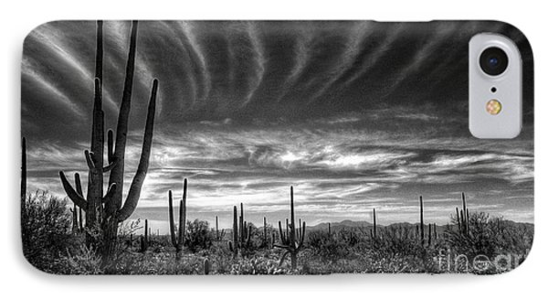 The Desert In Black And White IPhone Case by Saija  Lehtonen