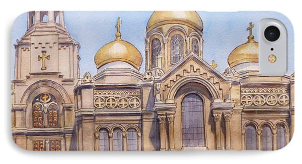 The Dormition Of The Mother Of God Cathedral  Varna Bulgaria Phone Case by Henrieta Maneva