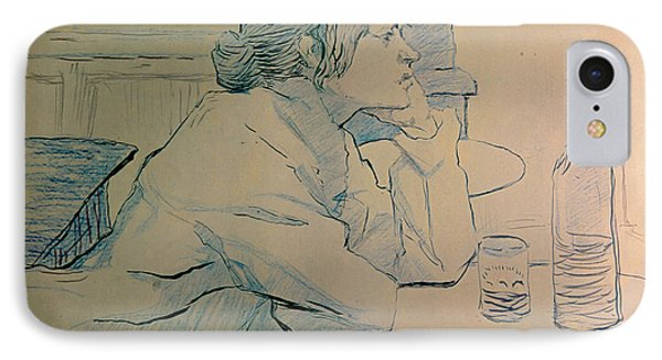 The Drinker Or An Hangover Phone Case by Henri de Toulouse-lautrec