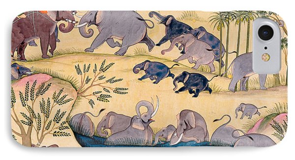 The Elephant Hunt IPhone Case by Indian School