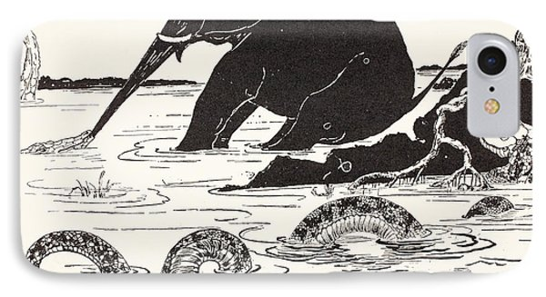 The Elephant's Child Having His Nose Pulled By The Crocodile IPhone 7 Case by Joseph Rudyard Kipling