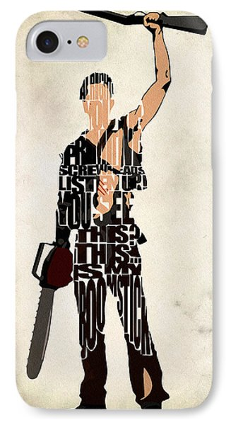 The Evil Dead - Bruce Campbell IPhone Case by Ayse Deniz