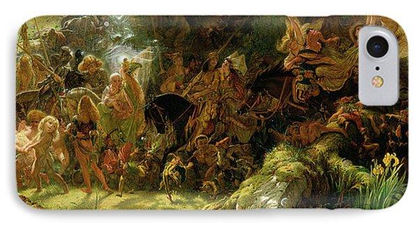 The Fairy Raid IPhone 7 Case by Sir Joseph Noel Paton
