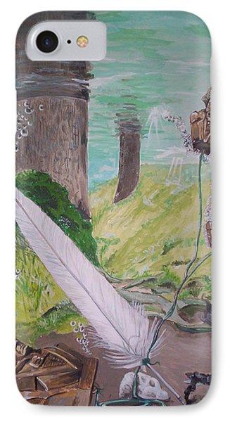 The Feather And The Word La Pluma Y La Palabra Phone Case by Lazaro Hurtado
