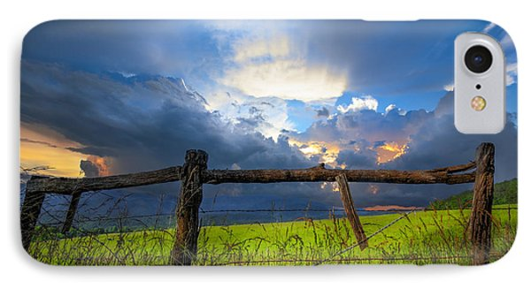 The Fence At Cades Cove IPhone Case by Debra and Dave Vanderlaan
