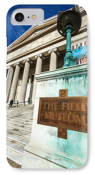 The Field Museum Sign In Chicago Phone Case by Paul Velgos