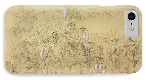 The First Virginia Cavalry At A Halt IPhone Case by Alfred R Waud