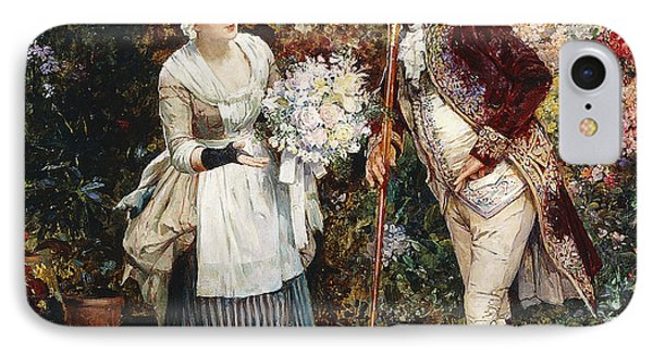 The Flower Girl IPhone Case by Henry Gillar Glindoni