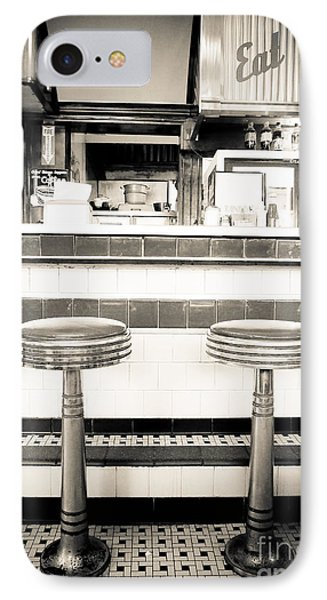 The Four Aces Diner IPhone Case by Edward Fielding