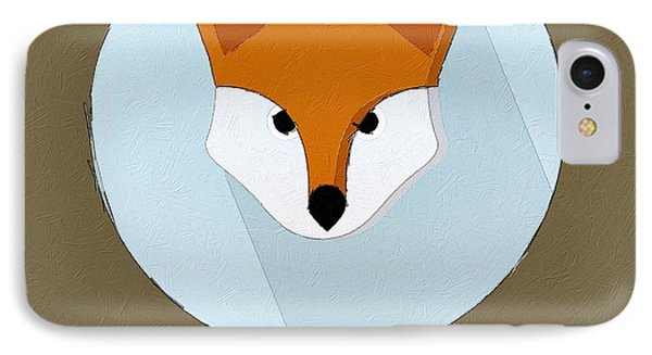 The Fox Cute Portrait IPhone Case by Florian Rodarte