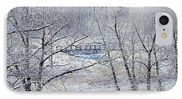 The Frozen Bridge Phone Case by Maria Angelica Maira