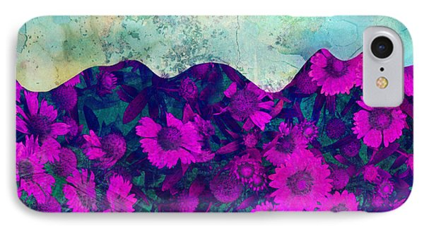 The Garden Wall Abstract Art Phone Case by Ann Powell