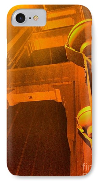 The Golden Gate Bridge At Night IPhone Case by Alberta Brown Buller