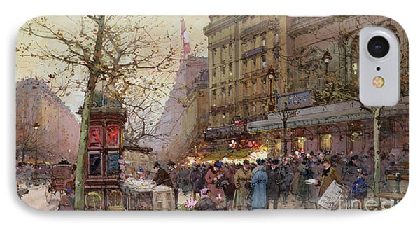 The Great Boulevards Phone Case by Eugene Galien-Laloue