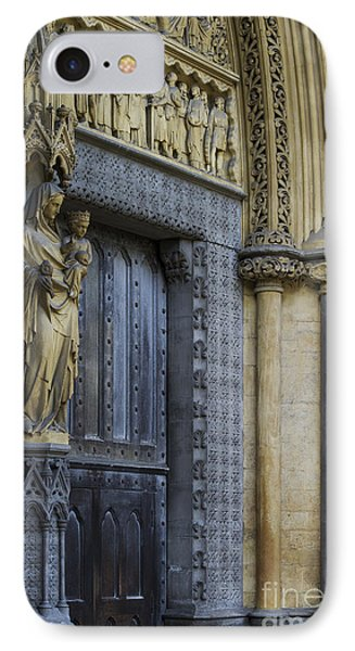 The Great Door Westminster Abbey London IPhone Case by Tim Gainey