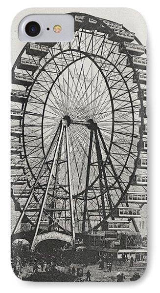 The Great Ferris Wheel In The World Columbian Exposition, 1st July 1893 IPhone Case by American School