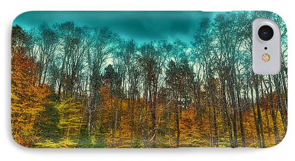 The Green Bridge Road In Autumn IPhone Case by David Patterson