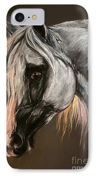 The Grey Arabian Horse Phone Case by Angel  Tarantella