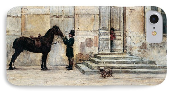 The Groom  IPhone Case by Giuseppe De Nittis