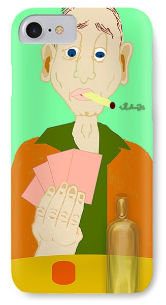 The Hand That Was Dealt IPhone Case by Pharris Art