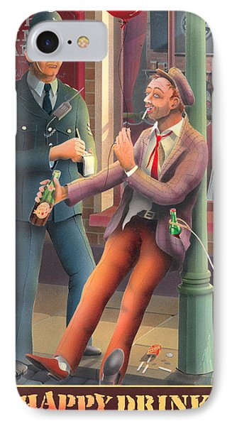 The Happy Drinker IPhone Case by Peter Green