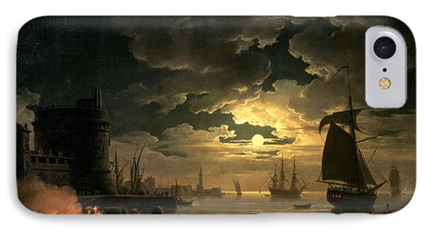 The Harbor Of Palermo IPhone Case by Claude Joseph Vernet