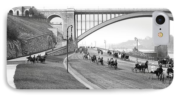 The Harlem River Speedway IPhone 7 Case by Detroit Publishing Company