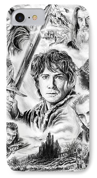 The Hobbit Middle Earth IPhone Case by Andrew Read