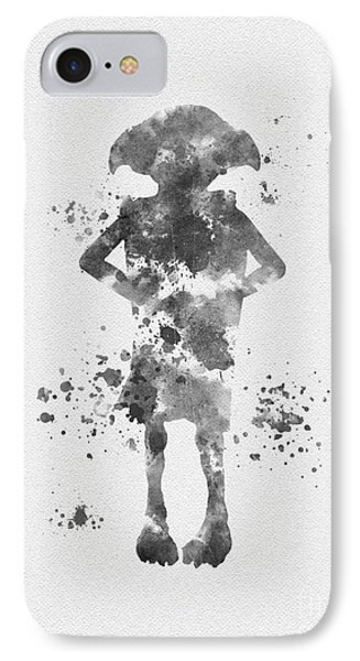 The House Elf Black And White IPhone Case by Rebecca Jenkins