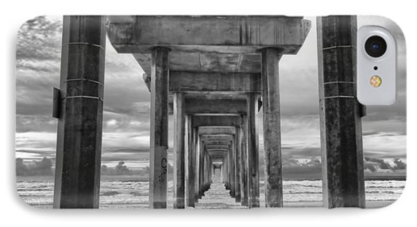 The Iconic Scripps Pier IPhone Case by Larry Marshall