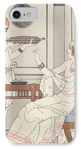 The Immoderate Consumption Of Sesame Cakes And Sweets With Honey IPhone Case by Joseph Kuhn-Regnier