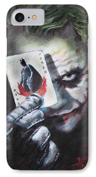The Joker Heath Ledger  IPhone 7 Case by Viola El